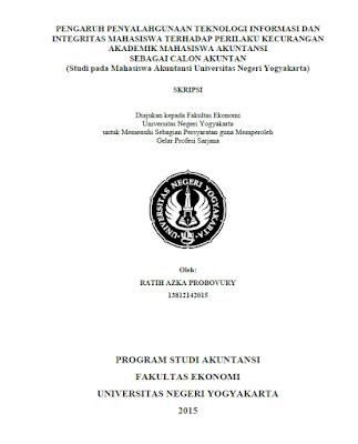 Contoh Skripsi Akuntansi Universitas Negeri Yogyakarta Arsip Org