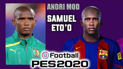 PES 2020 Faces Samuel Eto'o by Andri Mod