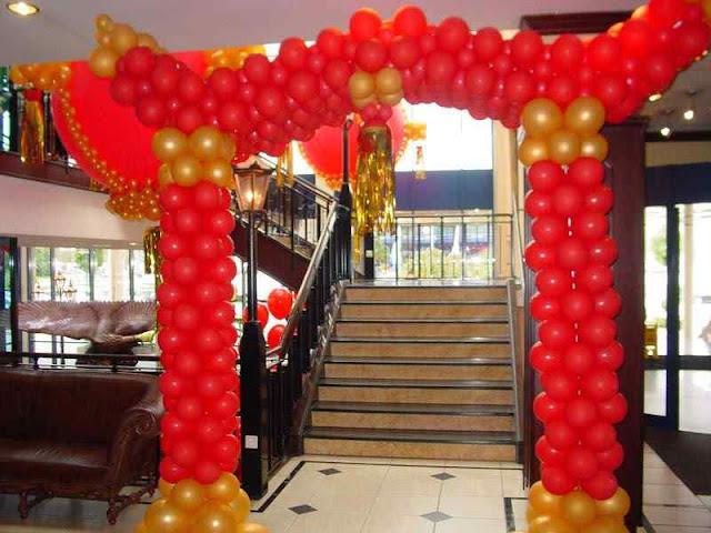 Foto dekorasi gate balon imlek gong xi fat choi