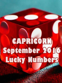 CAPRICORN September 2016 Lucky Numbers