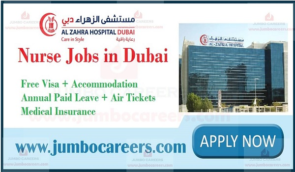 Urgent Nurse Jobs in Dubai 2020 | Al Zahra Hospital Dubai Careers