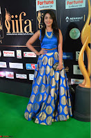 Madhu Shalini Looks Super Cute Slim trim Blue Choli Ghagra IIFA Utsavam Awards 22.JPG