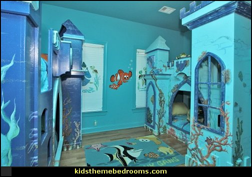 Castle Theme Beds Work Well In The Underwater Princess Mermaid Theme Bedroom