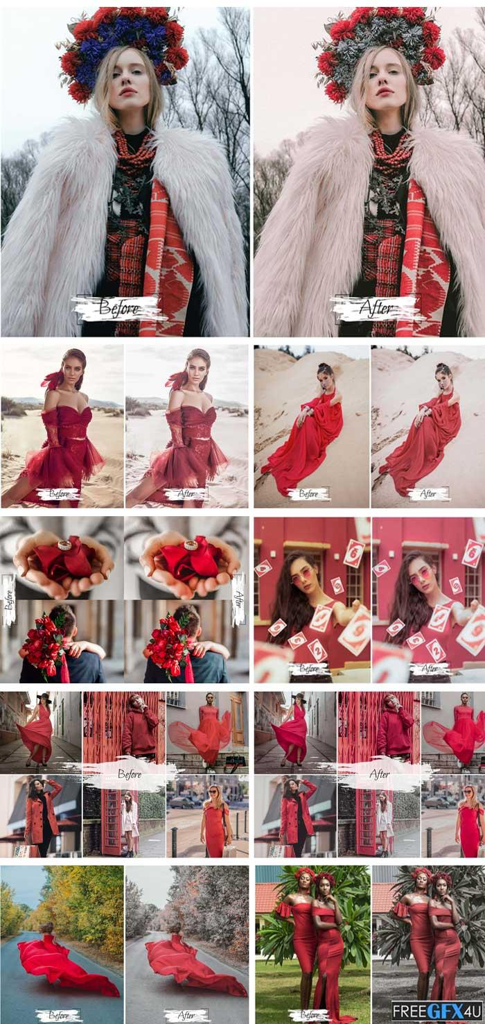 10 Red Velvet Ps Action, ACR, LUT