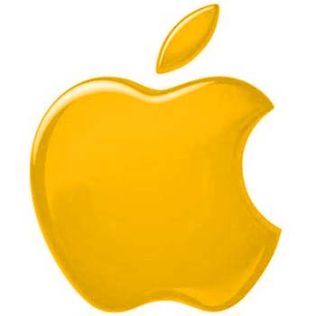 yellow apple logo - photo #2