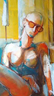 Sommerhitze Gemälde von Olga David Acryl auf Leinwand
