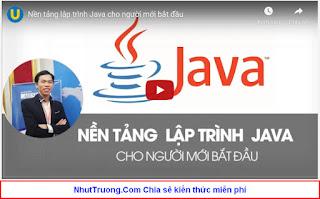 Lập trình Java căn bản từ con số 0 cho người mới bắt đầu