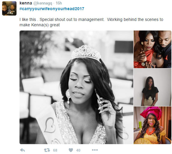 #CarryYourWifeOnYourHead2017: Nigerian men proudly show off their wives