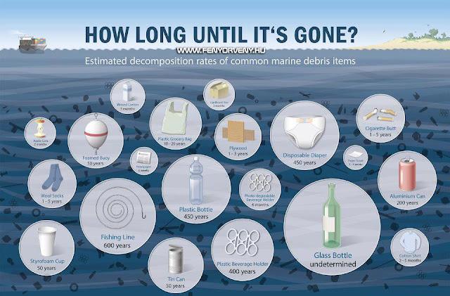 Mennyi idő után bomlik le az eldobott hulladék?