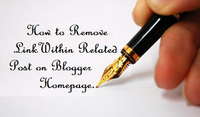 How to Remove LinkWithin Credit in Related Post on Blogger