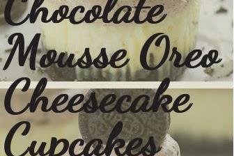Chocolate Mousse Oreo Cheesecake Cupcakes