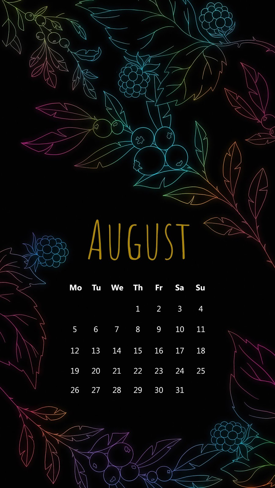August colorful