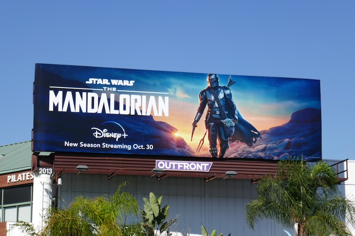 Mandalorian season 2 Disney plus billboard