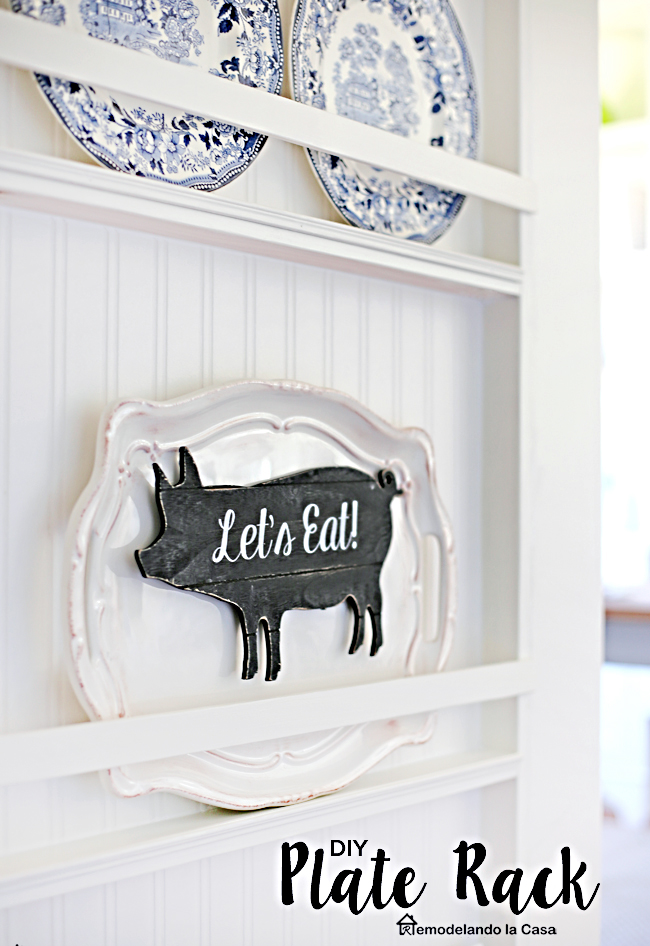 How to build a plate rack on the side of the fridge
