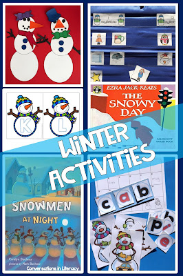 Winter Activities and Snowman Crafts for the classroom