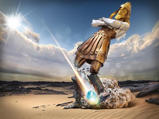 #ParaCegoVer: imagem ilustrativa do sonho de Nabucodonozor registrado em Daniel 2