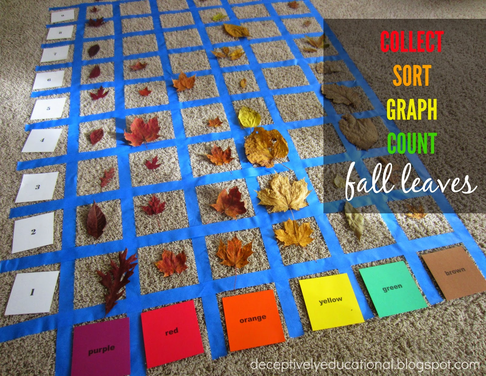Relentlessly Fun Deceptively Educational Collect Sort Graph Amp Count Fall Leaves