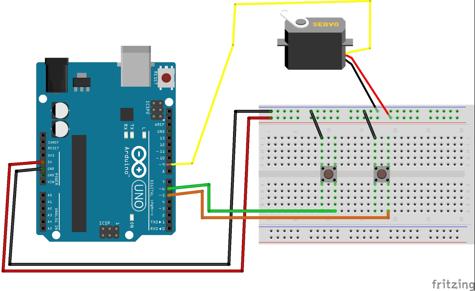 Control Servo Motor With Push Button Arduino Tutorial Controlling Circuit An Error Occurred