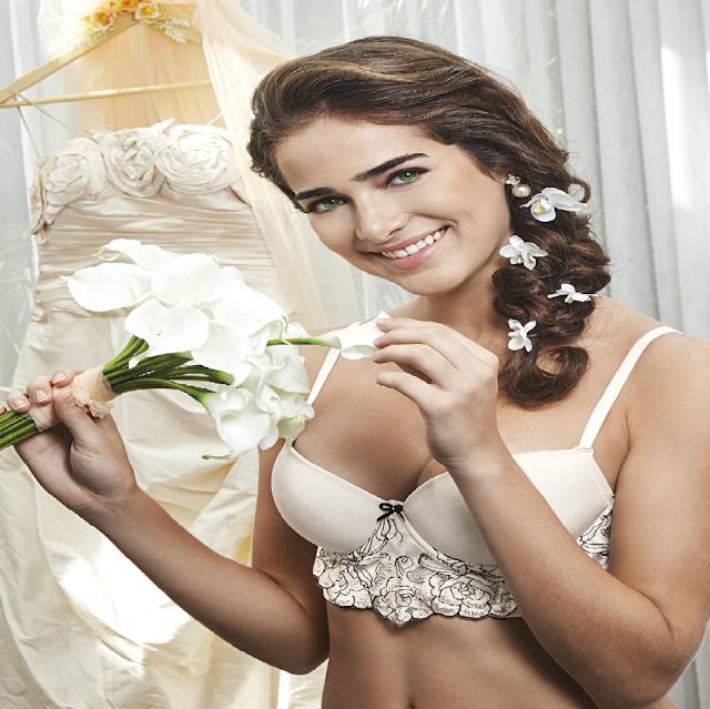 DeMillus mês das noivas,coleção Tatiane,sutiã top,calça baixa,lingerie,linha noite,camisola,noivas de maio,decote sensual,lançamento DeMillus,tule bordado