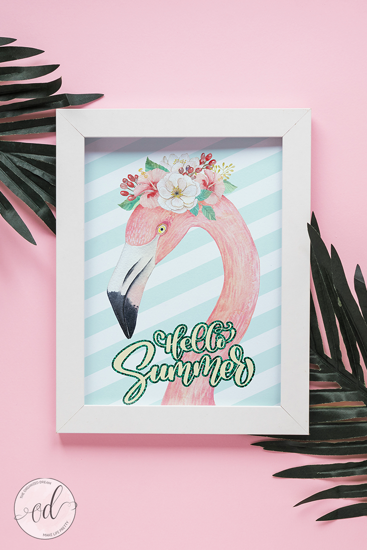 photo regarding Flamingo Printable titled Free of charge Good day Summer season Flamingo Printable - The Geared up Aspiration