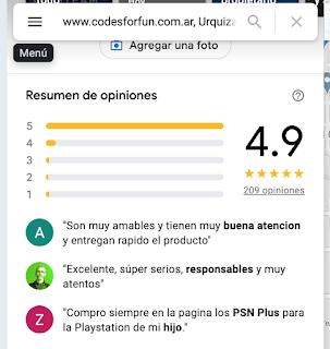 PSN Cards en Argentina www.codesforfun.com.ar