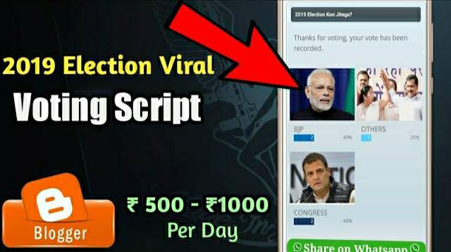 India 2019 Lok Subha Election Viral Voting Script For Blogger