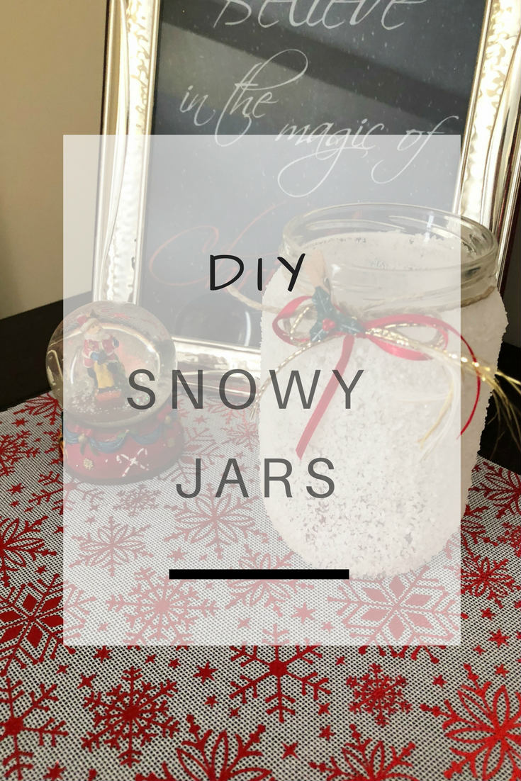 DIY Snowy Jars: Recycle all those unused jars by turning them into festive snowy candleholders | Ioanna's Notebook