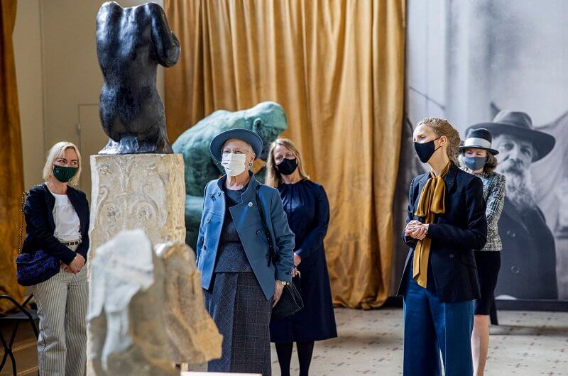 Queen Margrethe visited the Glyptotek Museum in Copenhagen. Augustinus Foundation and Aage and Johanne Louis-Hansen's Foundation