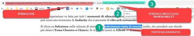 creare link con bookmarklet