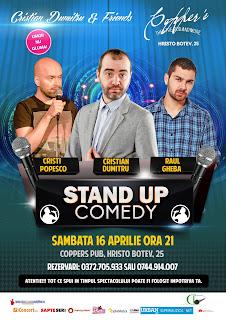 Stand-Up Comedy Sambata 16 Aprilie Bucuresti