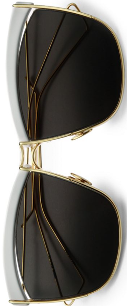 Dior So Electric 58MM Square Sunglasses White-Gold