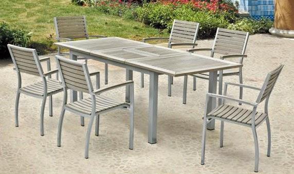 conjunto de mesa y sillas jardin estilo moderno