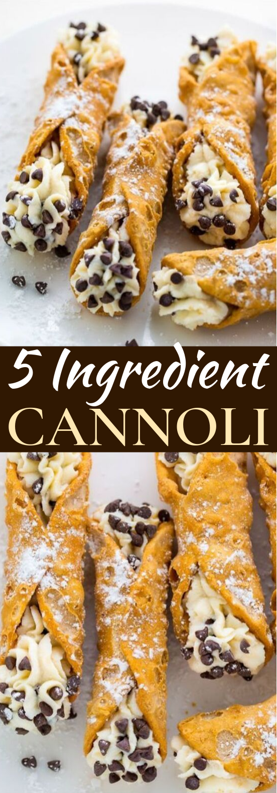 5-Ingredient Cannolis #desserts #easy