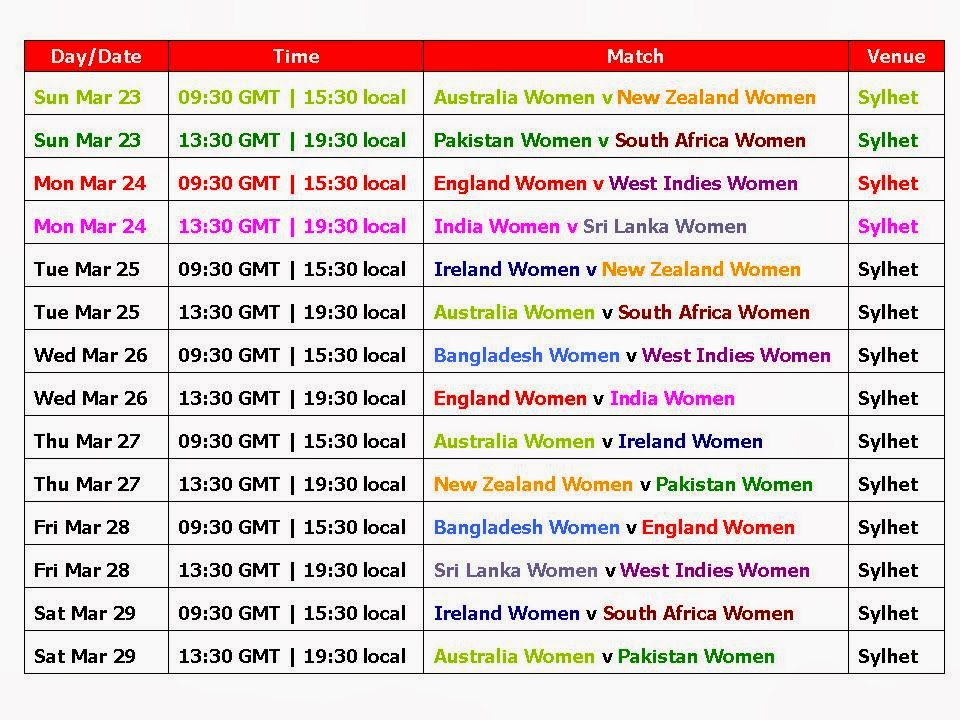 T20 WORLD CUP 2014 TIMETABLE PDF