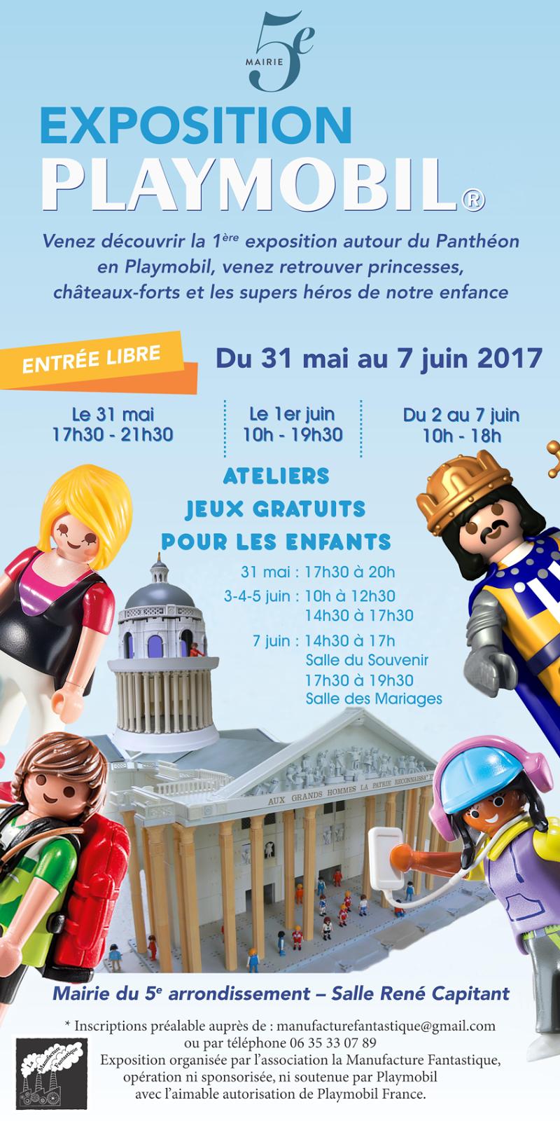 Famousplaymo exposition playmobil mairie du v me for Exposition paris 2017