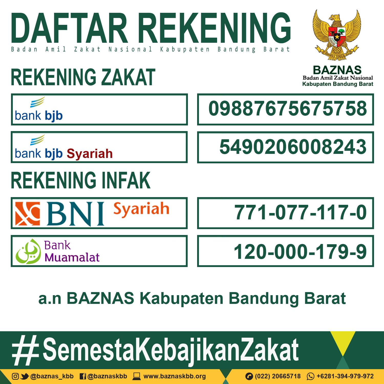 Rekening Zakat dan Infak BAZNAS Kabupaten Bandung Barat