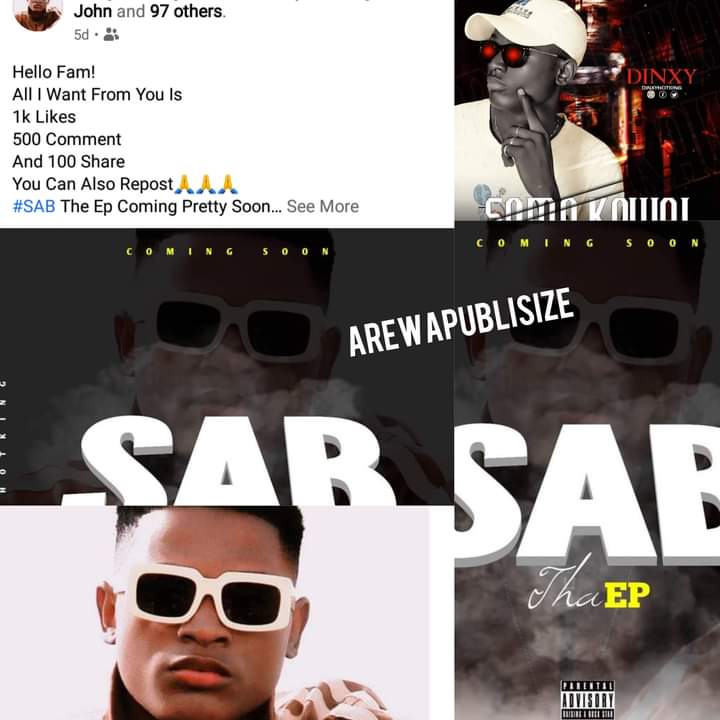 [E-news] Hausa Abuja based rapper 'Dinxy hotking' set to drop new Extended play 'SAB' #Arewapublisize