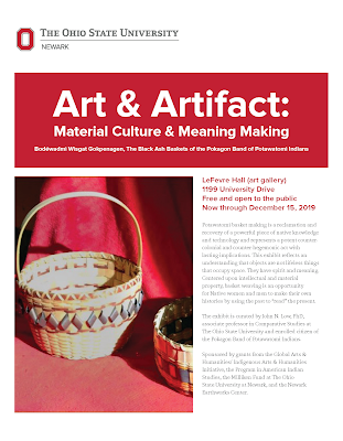 Art & Artifact: Material Culture & Meaning Making Exhibit Flyer. PDF available.