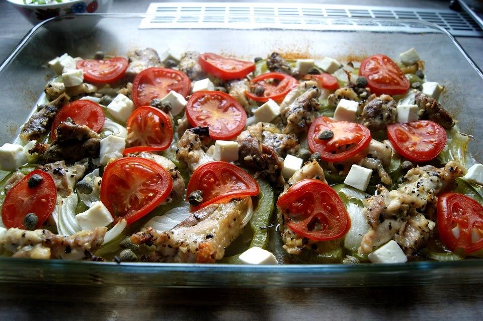 Kurczak po grecku z piekarnika - wielce smakowity!