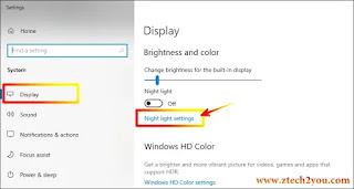 how-to-set-night-light-in-windows-10