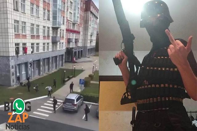 Adolescente atira em universidade na Rússia