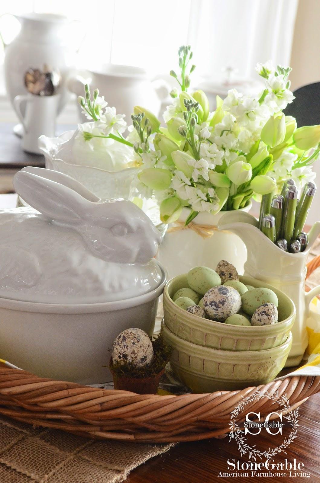 Spring Kitchen Vignette Stonegable
