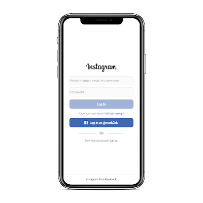 ionic-instagram-login-page