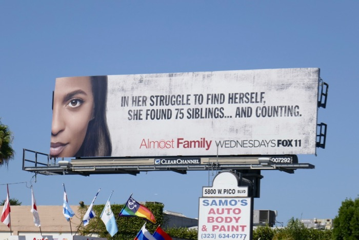 Almost Family series launch billboard