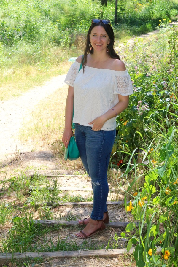157c206a0136a This combination of an off-the-shoulder top and some type of distressed  denim has already turned into my summertime go-to outfit (see most recent  outfit ...