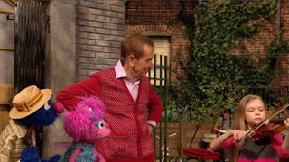 Abby Cadabby, Bob, Grover. Bob continues to show the two how vibrations make sound. Sesame Street Episode 4326 Great Vibrations season 43