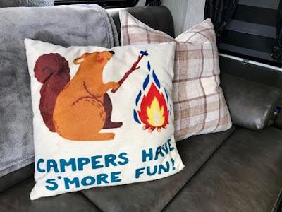 camper pillow, trailer tour