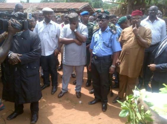 Enugu state governor visits the scene where fulani men killed some innocent citizens