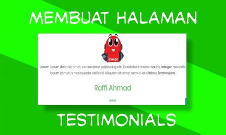 Cara Membuat Halaman Testimonial Responsive di Blogger