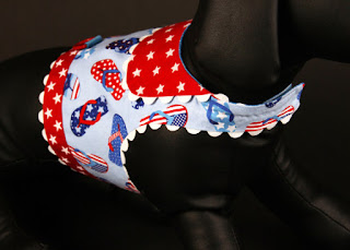Whimsical Patriotic Flip-Flops Dog Harness by JustForBella on Etsy